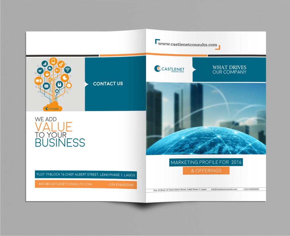 Professional elegant brochure design for castlenet for Design consultancy company profile