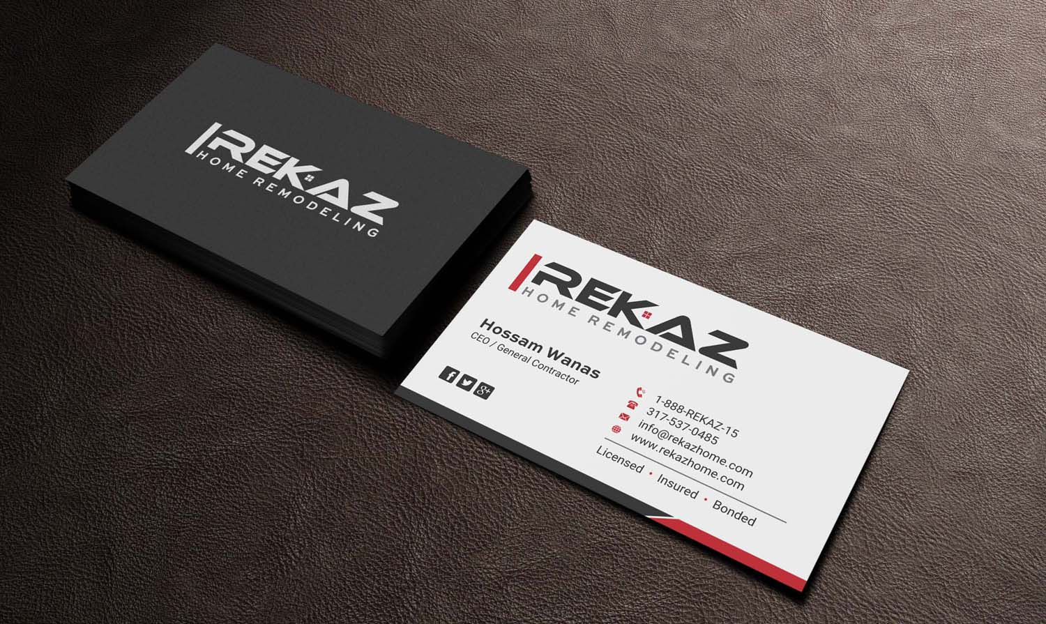 Home remodeling business cards choice image free business cards home remodeling business cards images free business cards business card design for rekaz llc by indianashok magicingreecefo Image collections