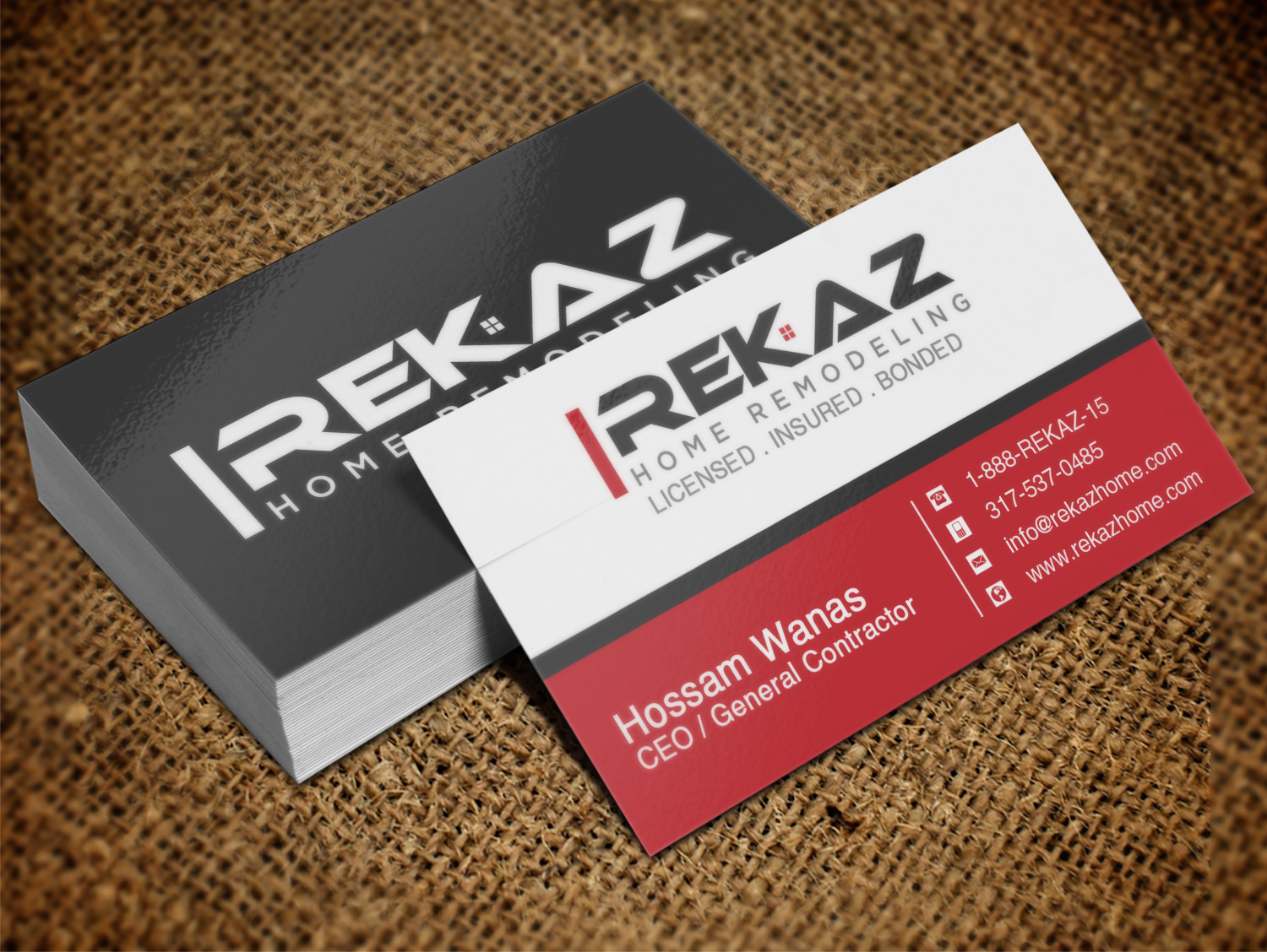 Home remodeling business cards choice image free business cards home remodeling business cards images free business cards business card design for rekaz llc by lanka magicingreecefo Image collections