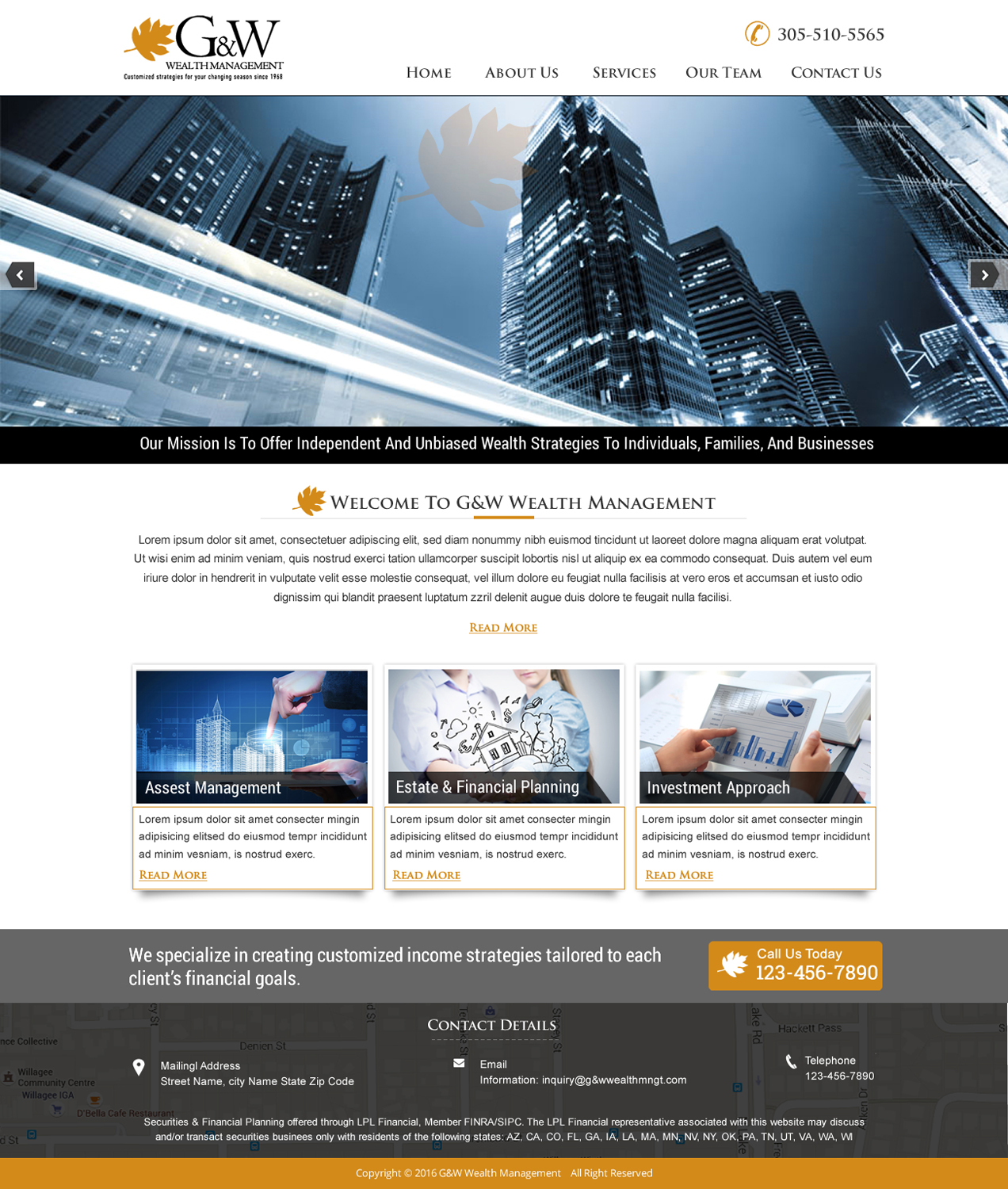 Conservative Upmarket Financial Planning Web Design For A Company By Harmi 199 Design 9576617