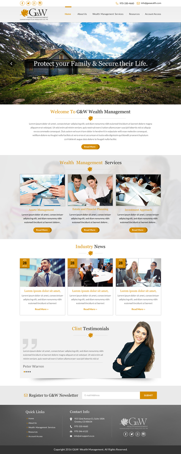 79 Conservative Web Designs Financial Planning Web Design Project For A Business In United States