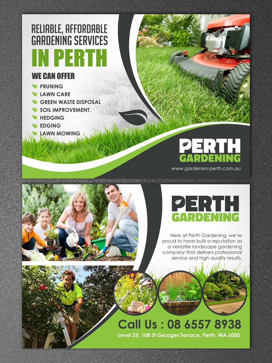 professional  serious  landscape gardening flyer design