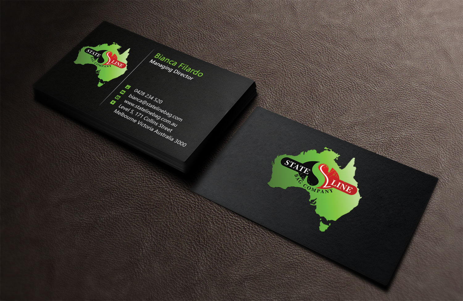 Business business card design for stateline bag by creation lanka business business card design for stateline bag in australia design 9564790 colourmoves