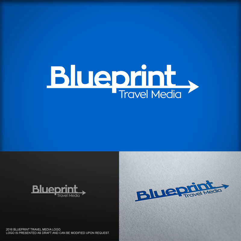 Playful professional logo design for blueprint travel media by logo design by cdg for revamp of company logo for a tourism design agency publishing malvernweather Images