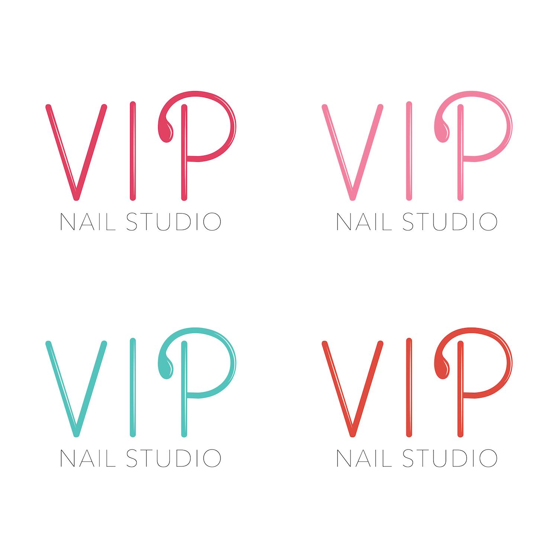 Elegant Serious Beauty Salon Logo Design For VIP Nail Studio In United States