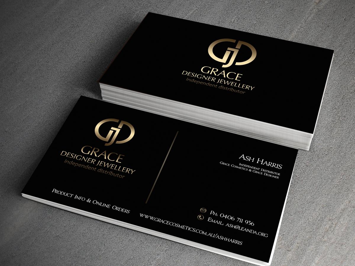 Elegant Upmarket Hair Business Card