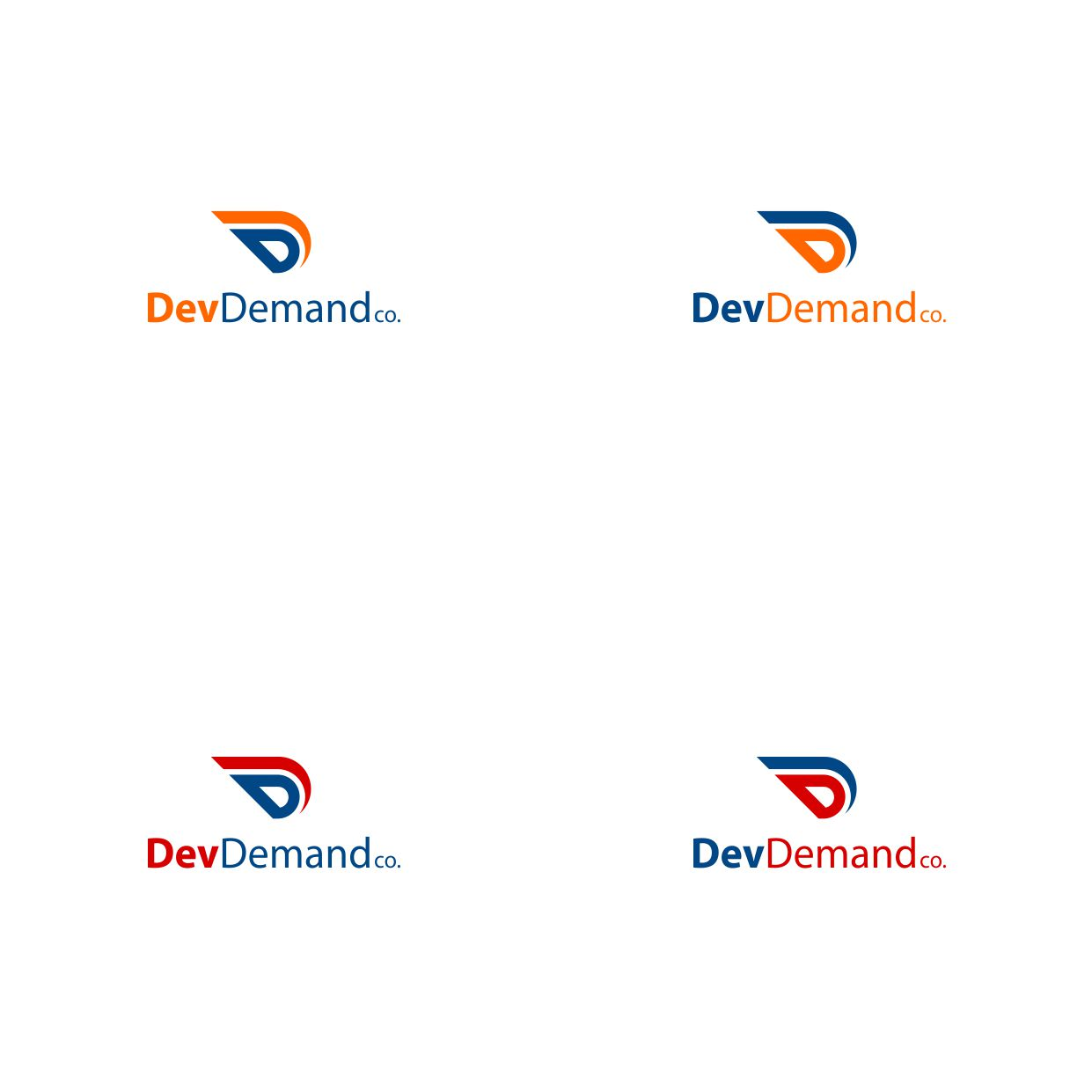 Modern upmarket logo design for dev demand co by adryoa for D for design