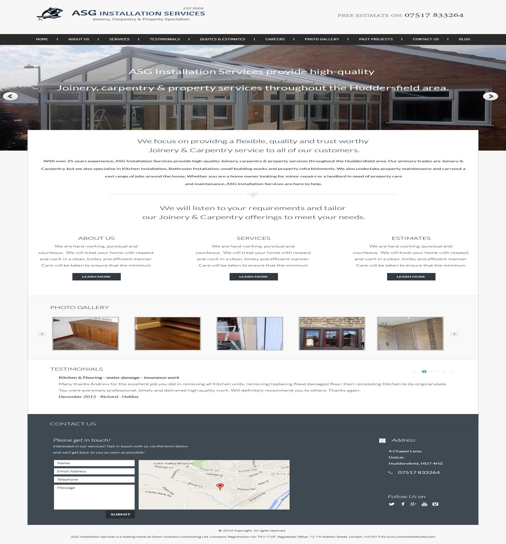 Bold modern home improvement web design for a company by Best home improvement website design