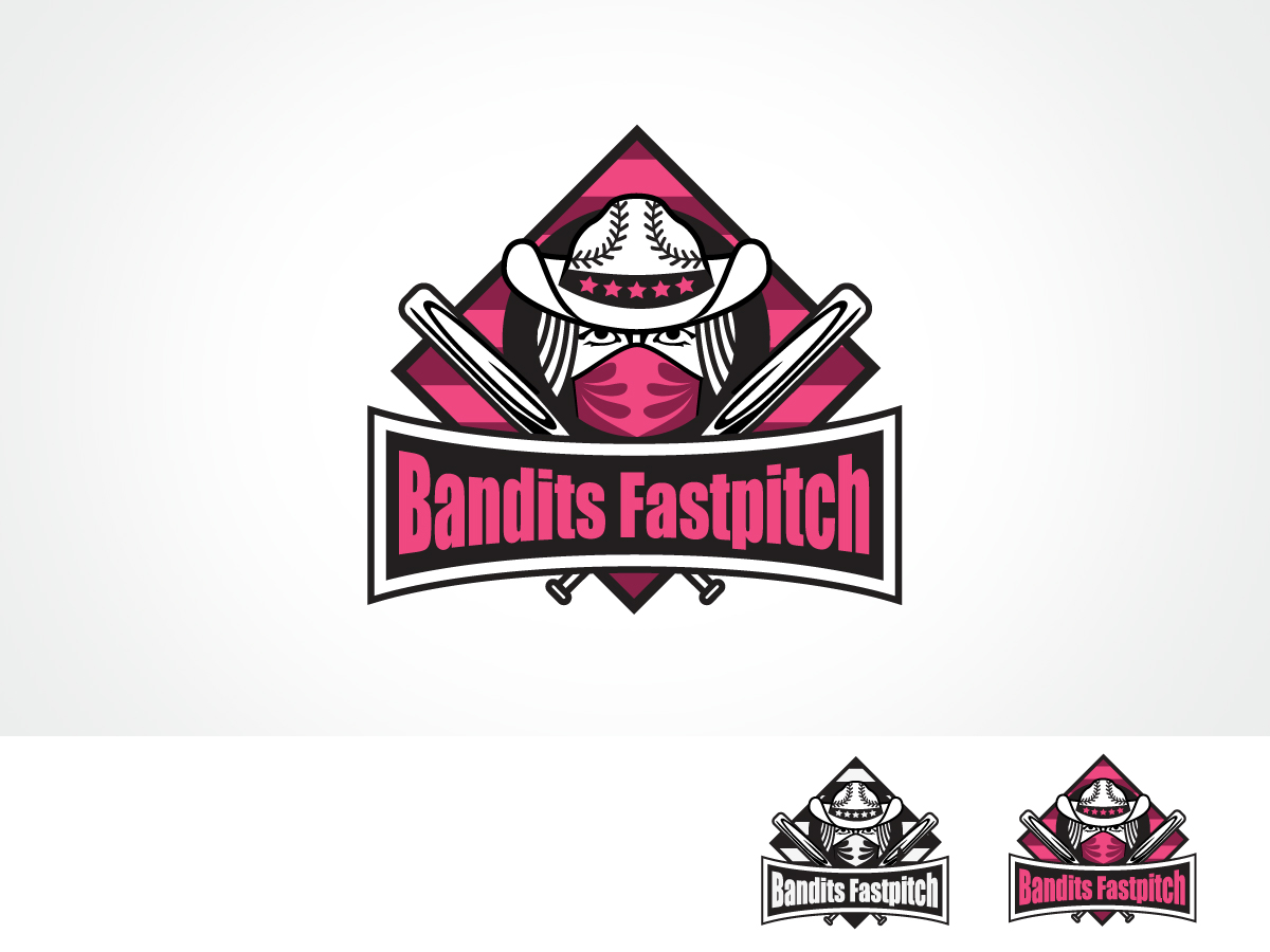 bold playful marketing logo design for bandits fastpitch or rh designcrowd com softball logo maker free Fastpitch Softball Logo