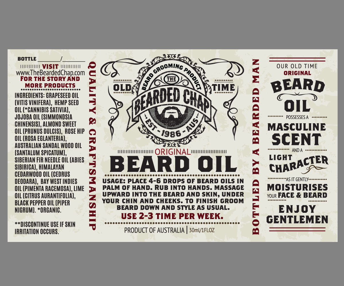 Masculine conservative graphic design for the bearded for Masculine web design