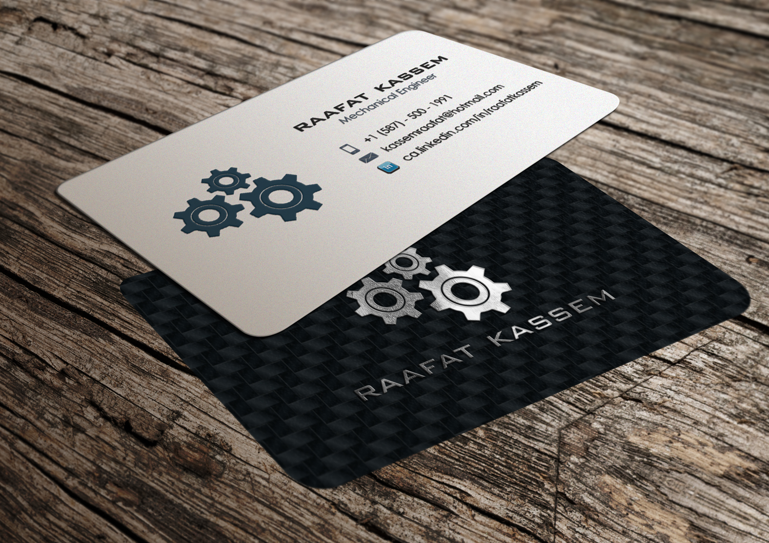 business card design by riz for this project design 9799269 - Engineer Business Card