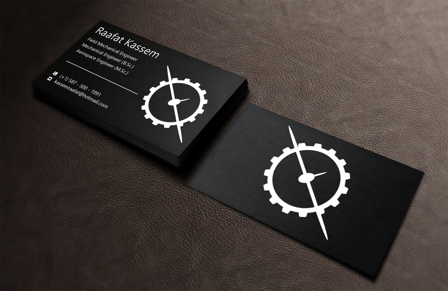 Elegant modern business card design for raafat kassem by lanka business card design by lanka ama for mechanical engineer business card design unemployed magicingreecefo Image collections