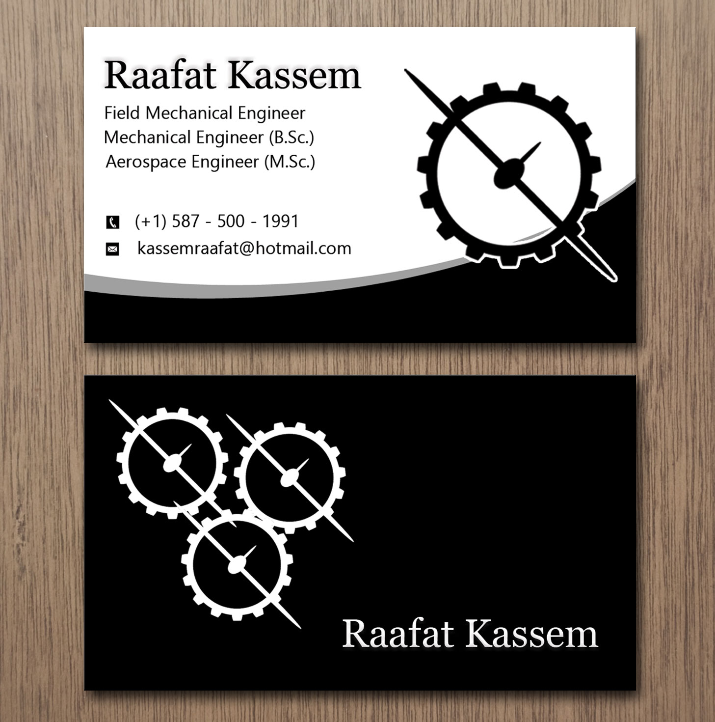 Elegant, Modern, Engineering Business Card Design for a Company by ...