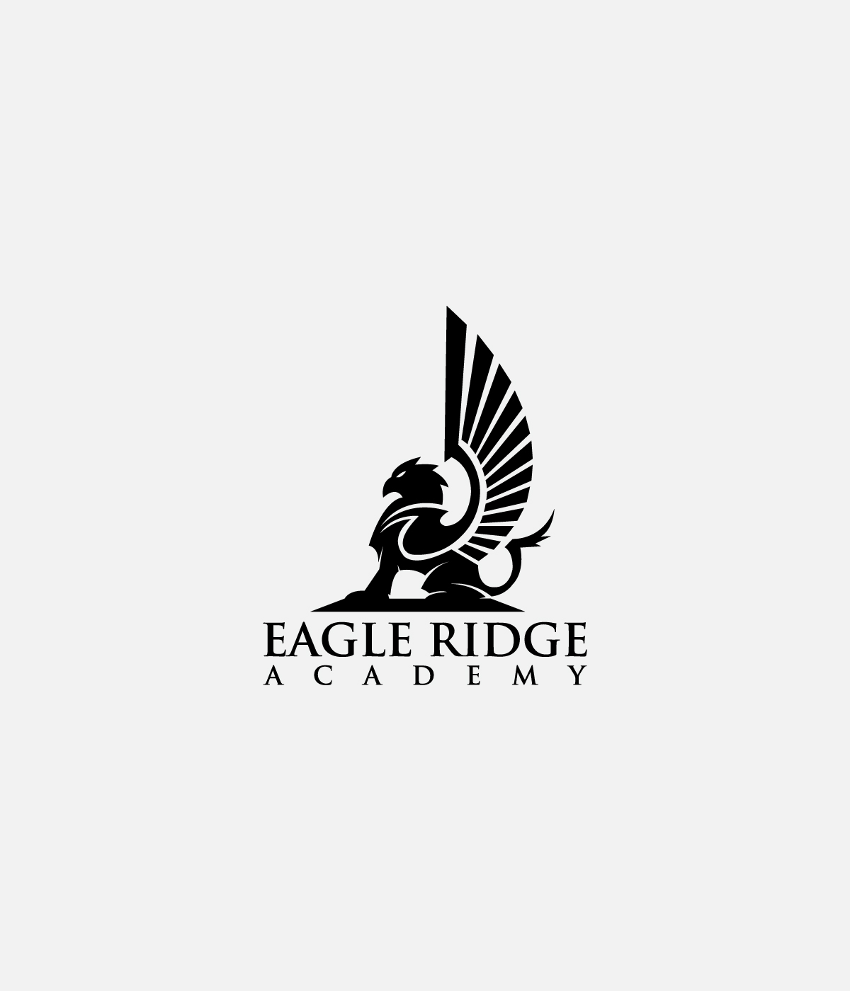 Serious traditional logo design for eagle ridge academy by logo design by kaijuthemes for gryphon for eagle ridge academy design 9607210 biocorpaavc Images
