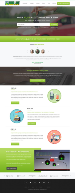 Web Design By Pb For Green Light Auto Credit | Design: #9623556