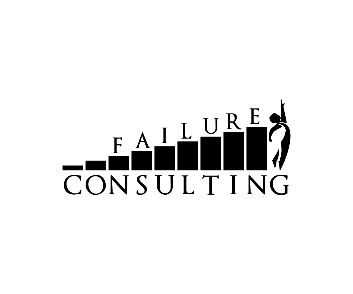 Bold serious logo design for failure consulting by just for What is a design consultant