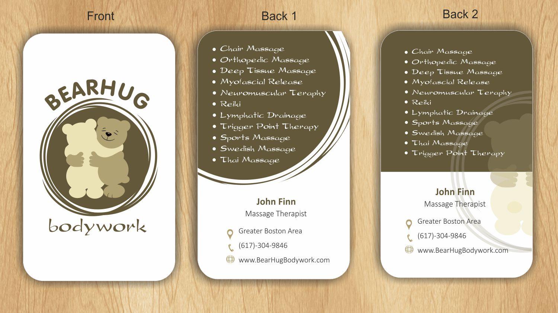 Feminine, Elegant, Massage Therapy Business Card Design for john ...