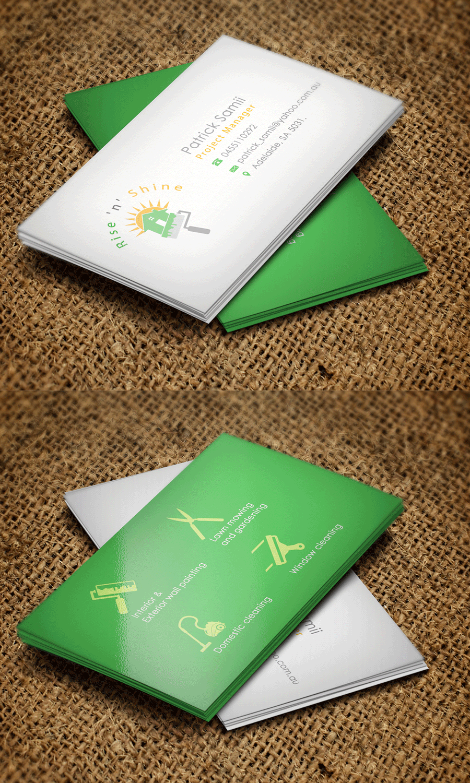 Business business card design for rise n shine by riz design business business card design for rise n shine in australia design 9652878 colourmoves