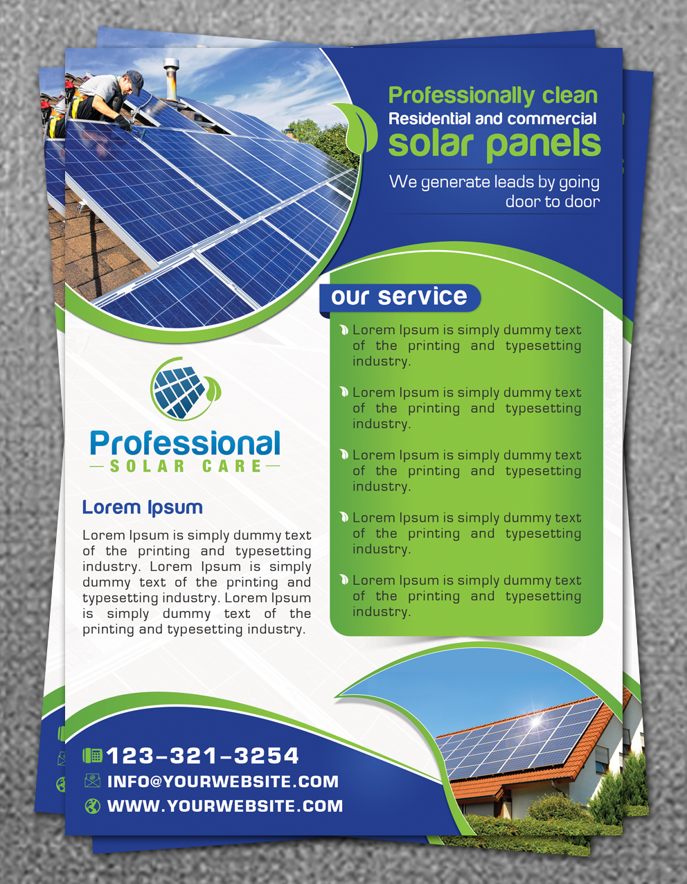 Flyer Design For Professional Solar Care By Hih7 Design