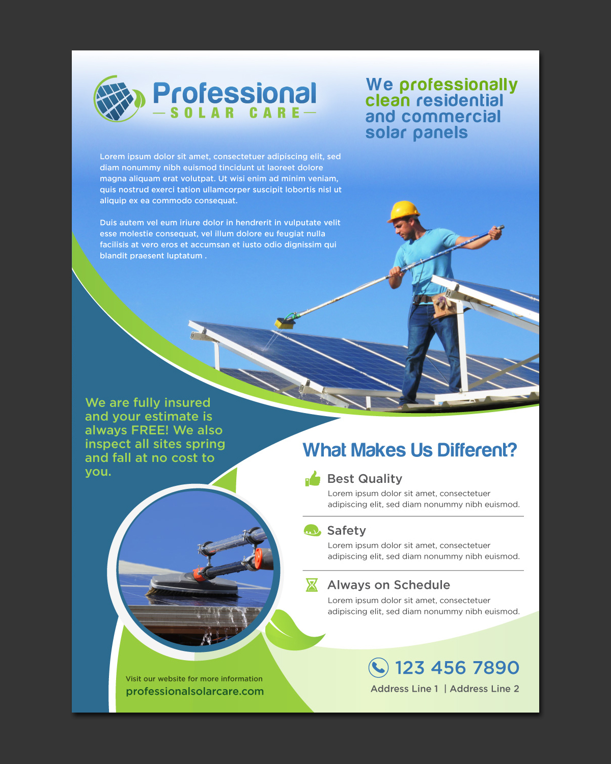 Home Design Companies Australia It Company Flyer Design For Professional Solar Care By