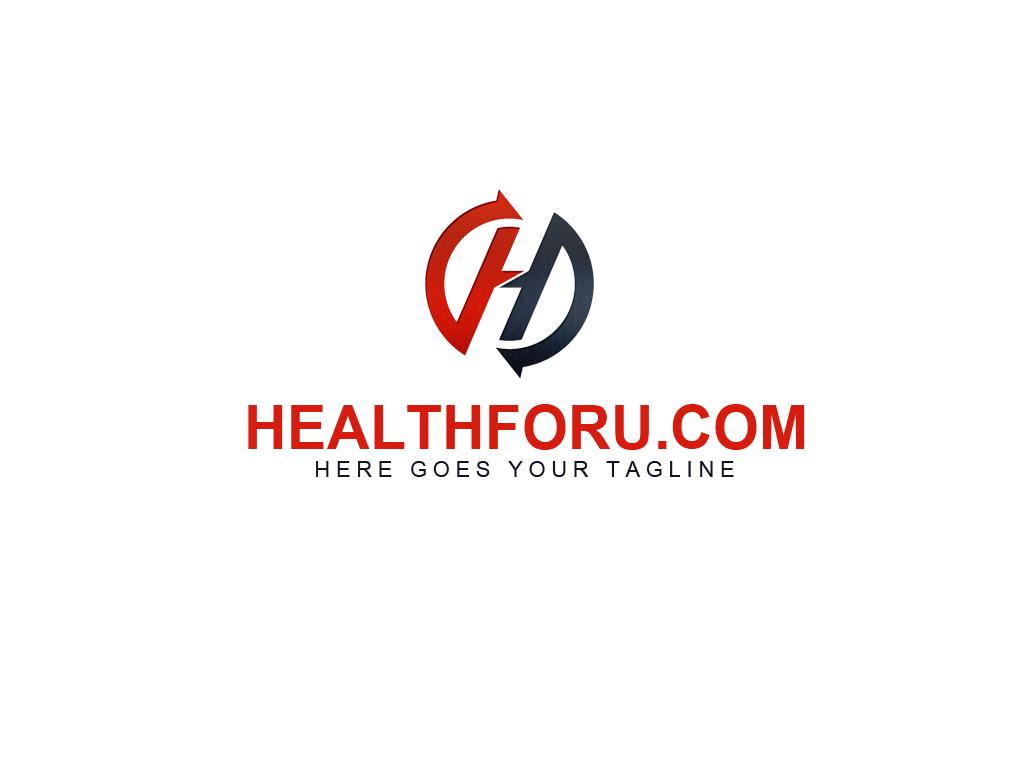 elegant playful digital logo design for healthforucom