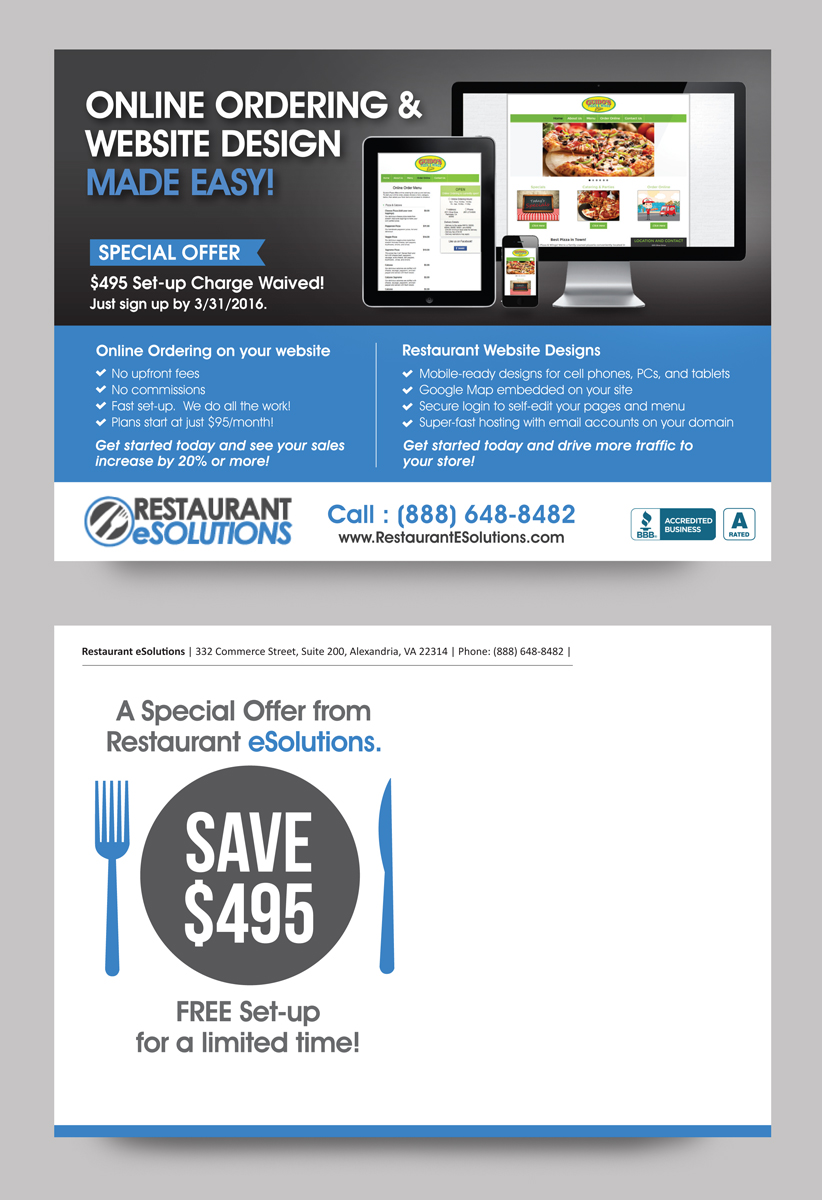 professional bold online postcard design for a company by rkailas