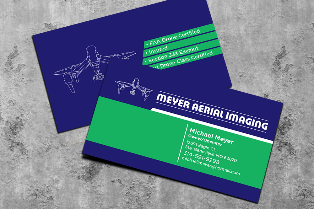 Serious modern business business card design for meyer aerial business card design by mckydesign for meyer aerial imaging design 9643191 reheart Images