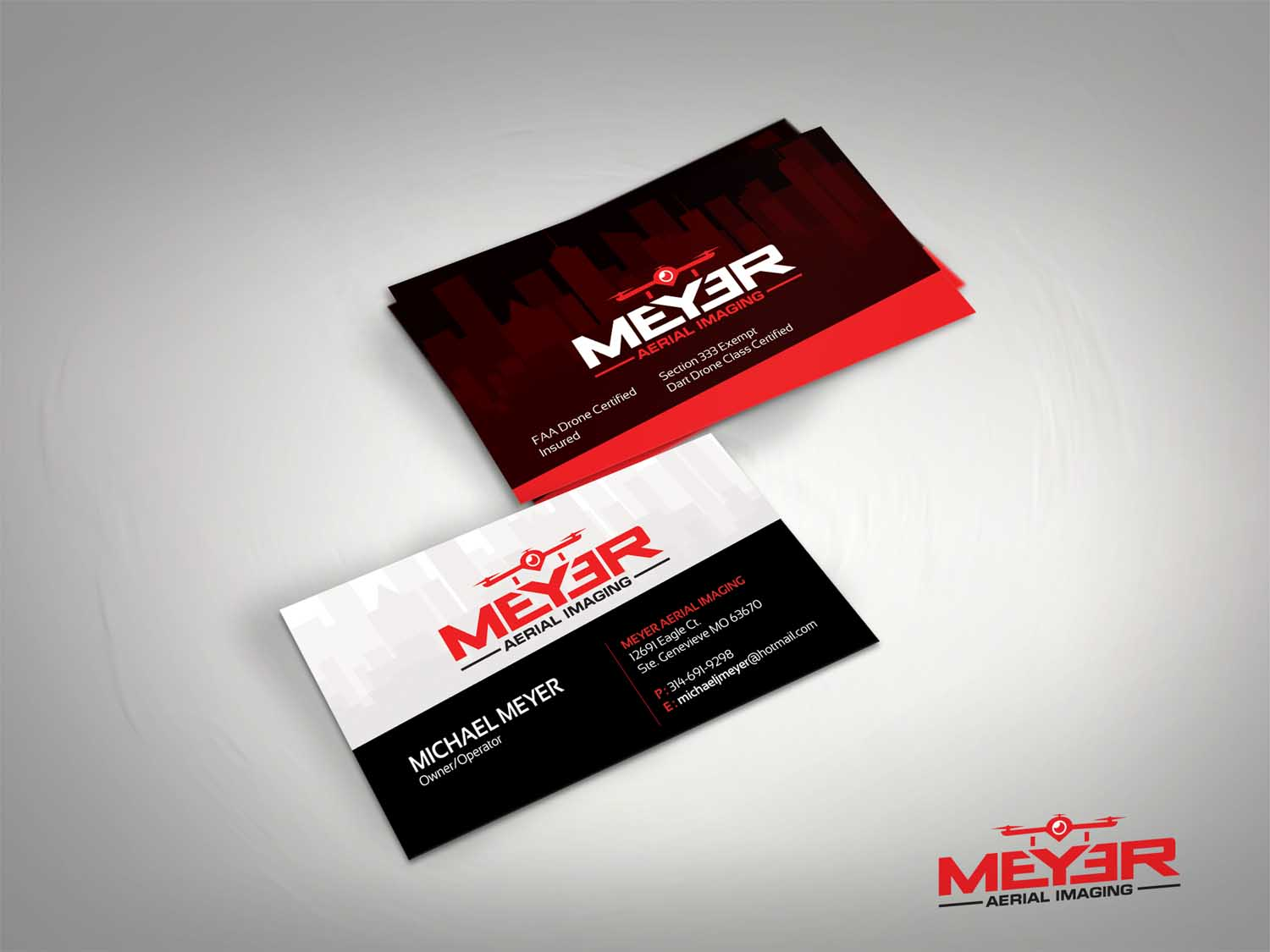 68 serious business card designs business business card design business card design by dirtyemm for meyer aerial imaging design 9650762 reheart Images