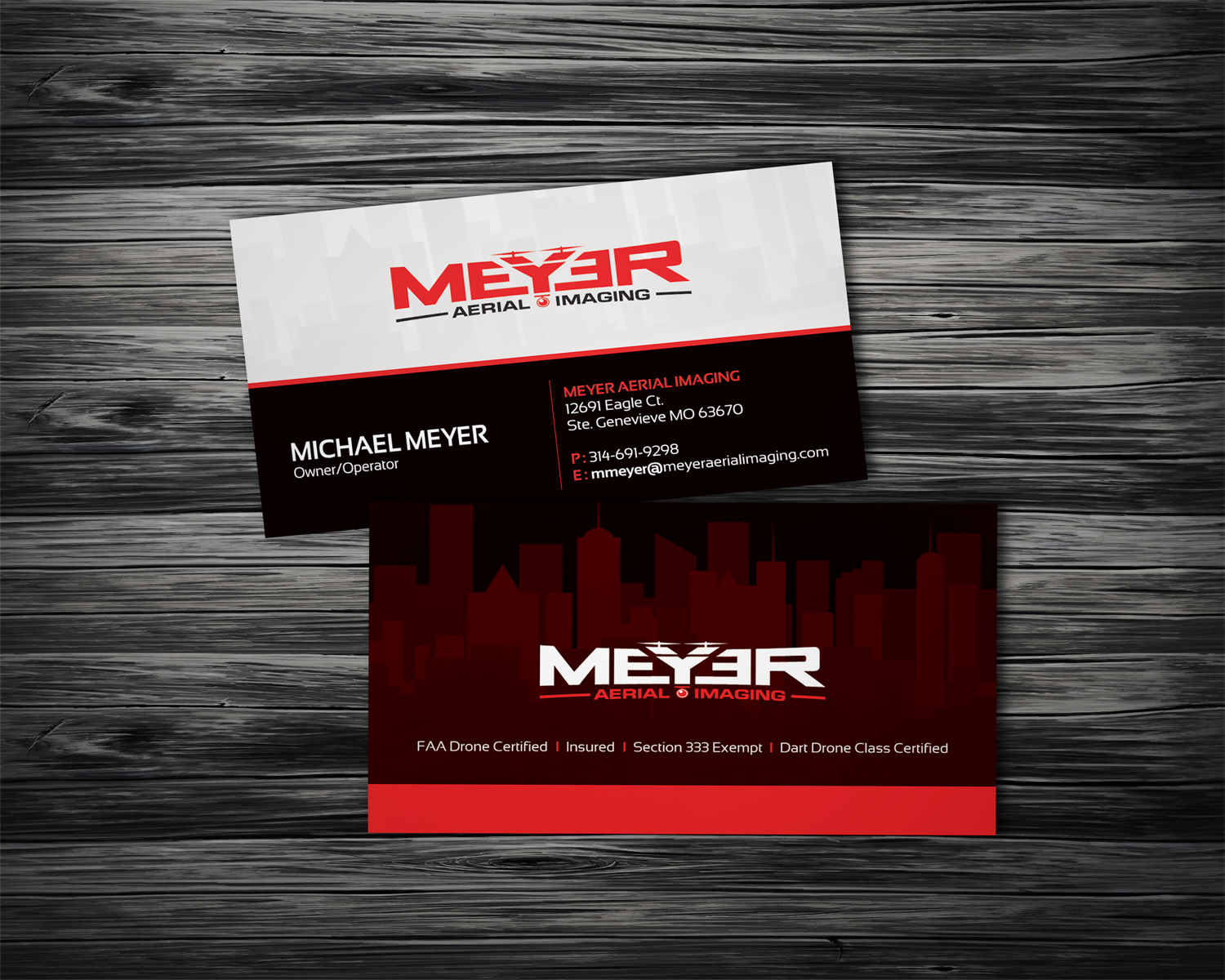 68 serious business card designs business business card design business card design by dirtyemm for meyer aerial imaging design 9689404 reheart Images