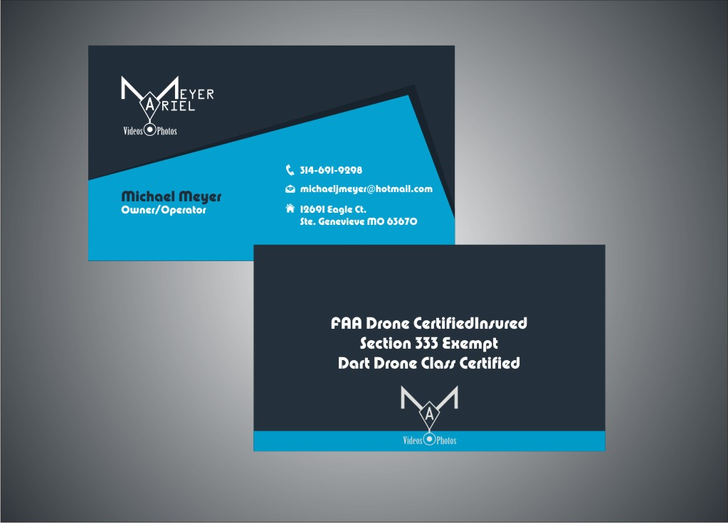Serious, Modern, Business Business Card Design for MEYER AERIAL ...