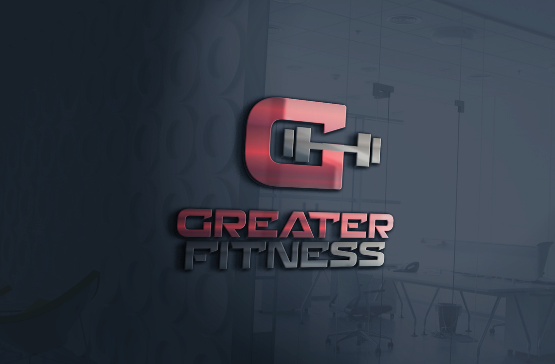 modern  conservative  gym logo design for greater fitness by gldesigns