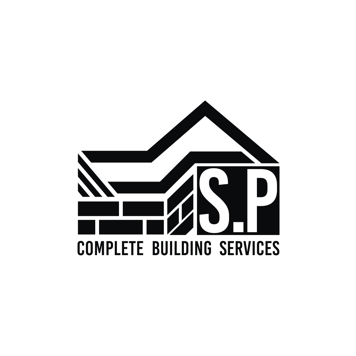 it company logo design for s p complete building services