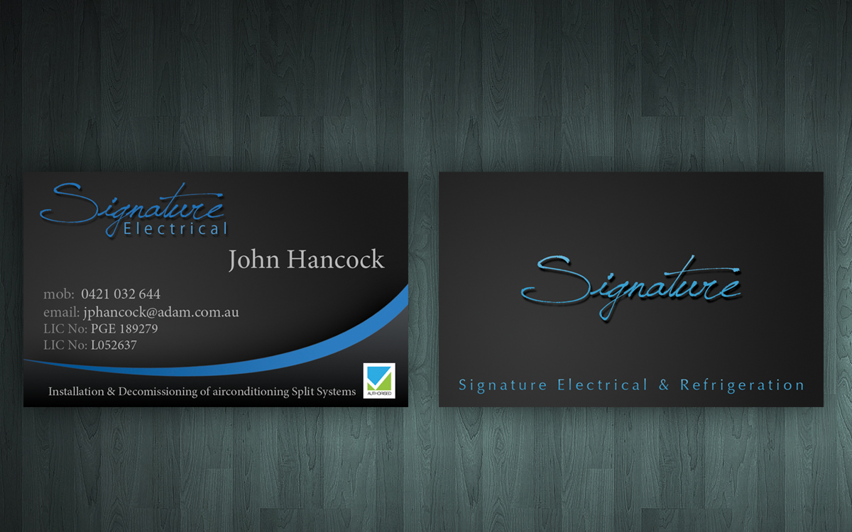 Wonderful Business Card Signature Pictures Inspiration - Business ...
