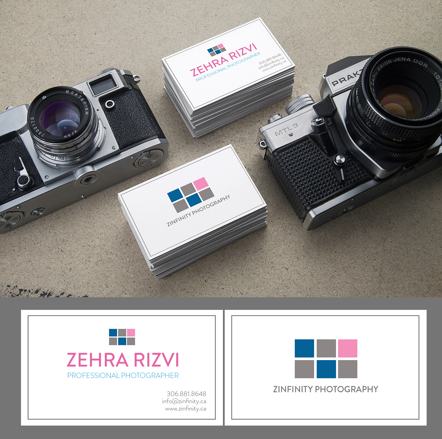 Modern, Professional, Wedding Photography Business Card Design for a ...