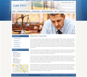 Web Design by Mayank Patel - Legal Website Custom Template Design - Wordpres...