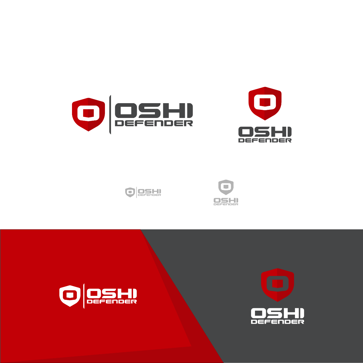 Serious professional logo design for oshi defender by for Design company