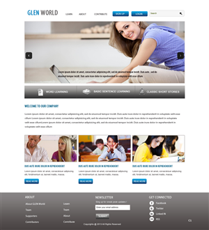 Web Design by pb - Website front end design for an education nonpr...