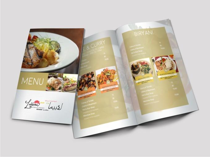 Modern professional asian restaurant menu design for a