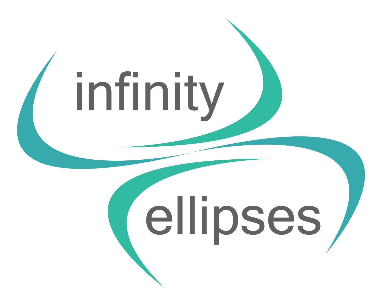 modern upmarket media logo design for infinity and