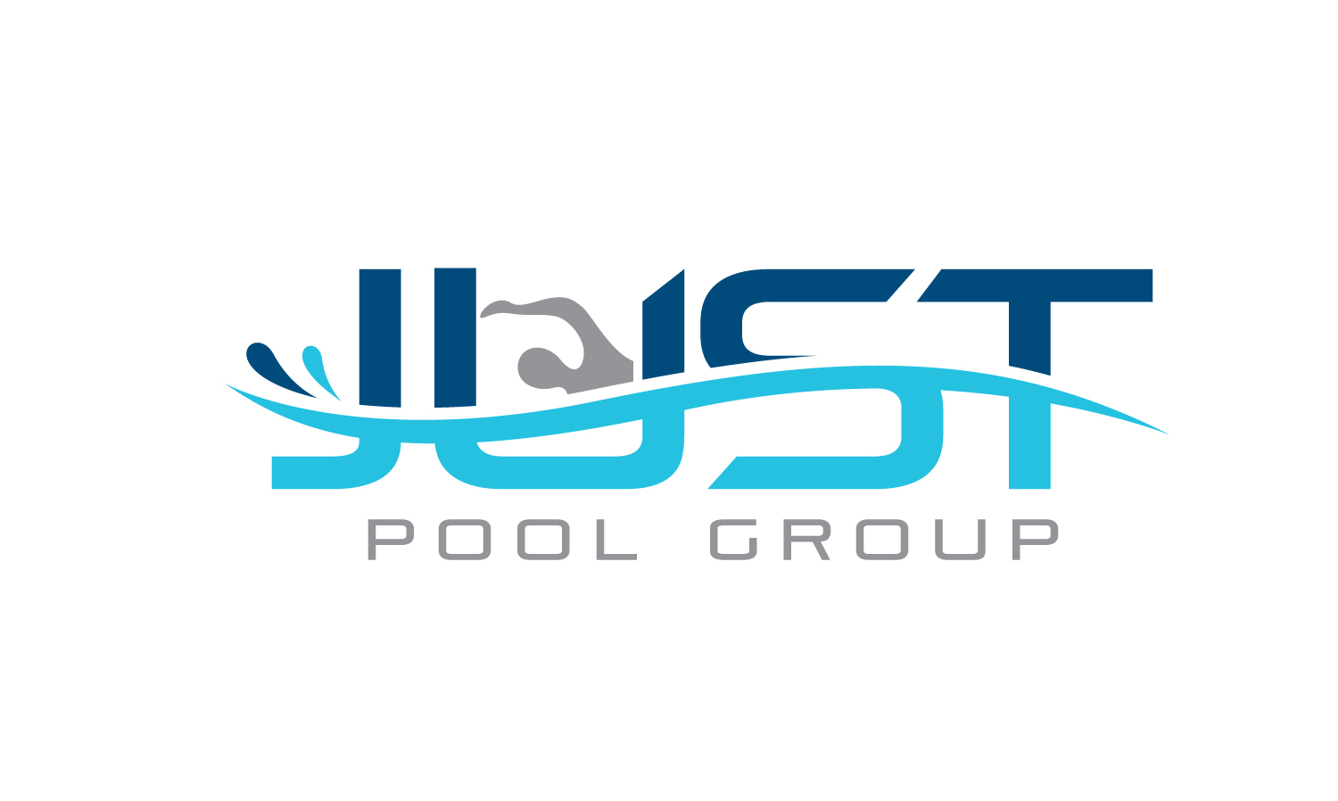 Playful colorful logo design for just pool group by for Creative pool design jobs