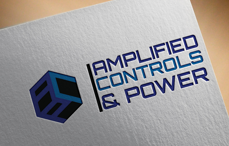 Masculine Bold Electrical Logo Design For Amplified Controls