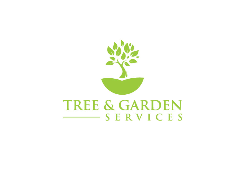 Bold serious landscape gardening logo design for john d for Tree and garden services