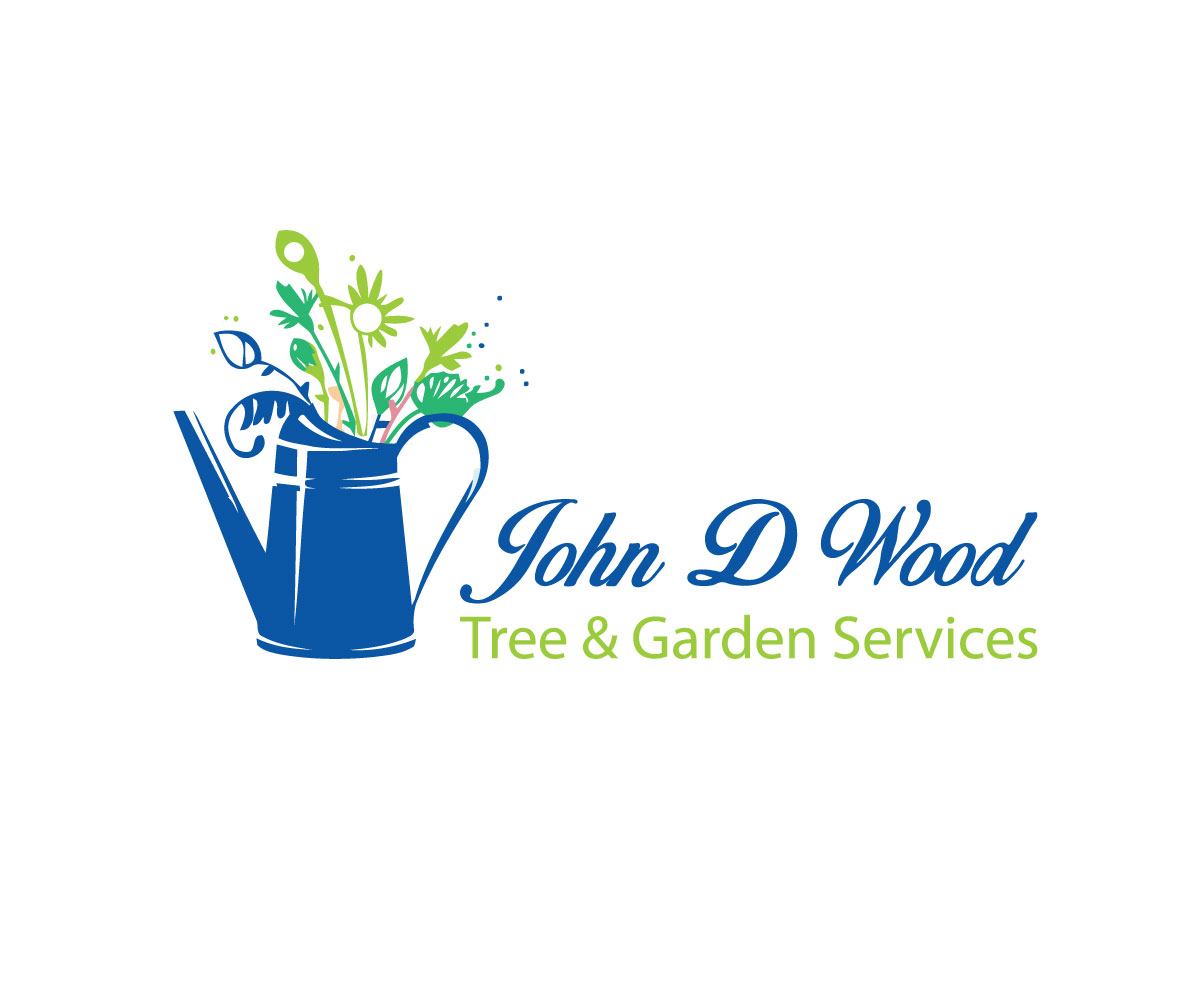 Bold serious logo design for john d wood tree garden for Tree and garden services