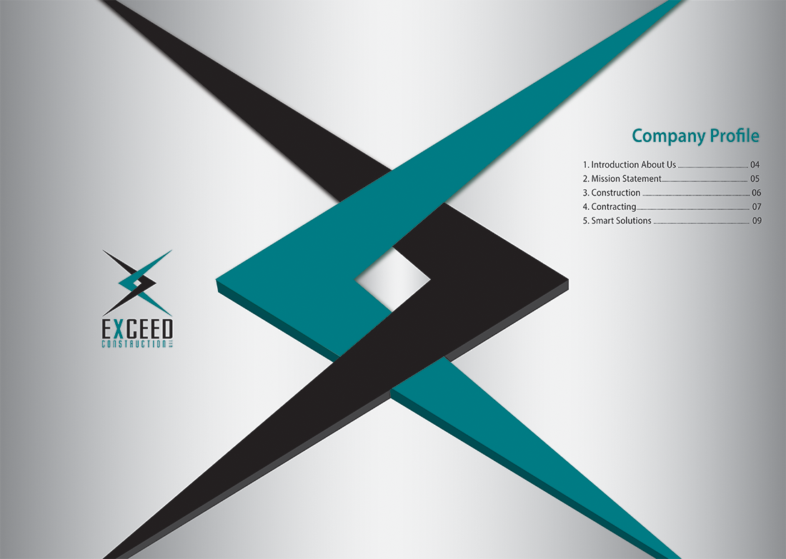 Elegant modern graphic design for exceed construction for Designing company