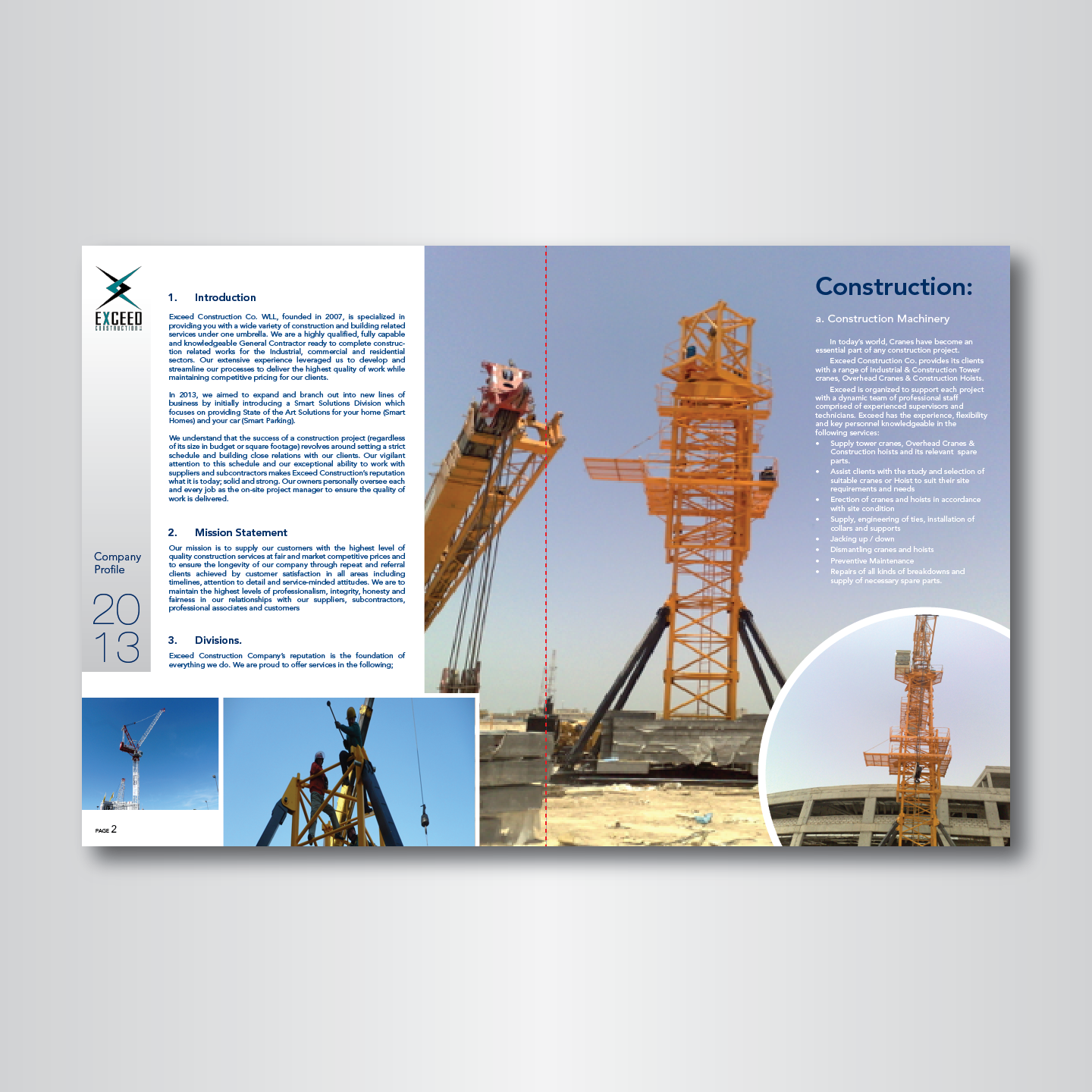 Elegant, Modern, It Company Graphic Design for Exceed Construction