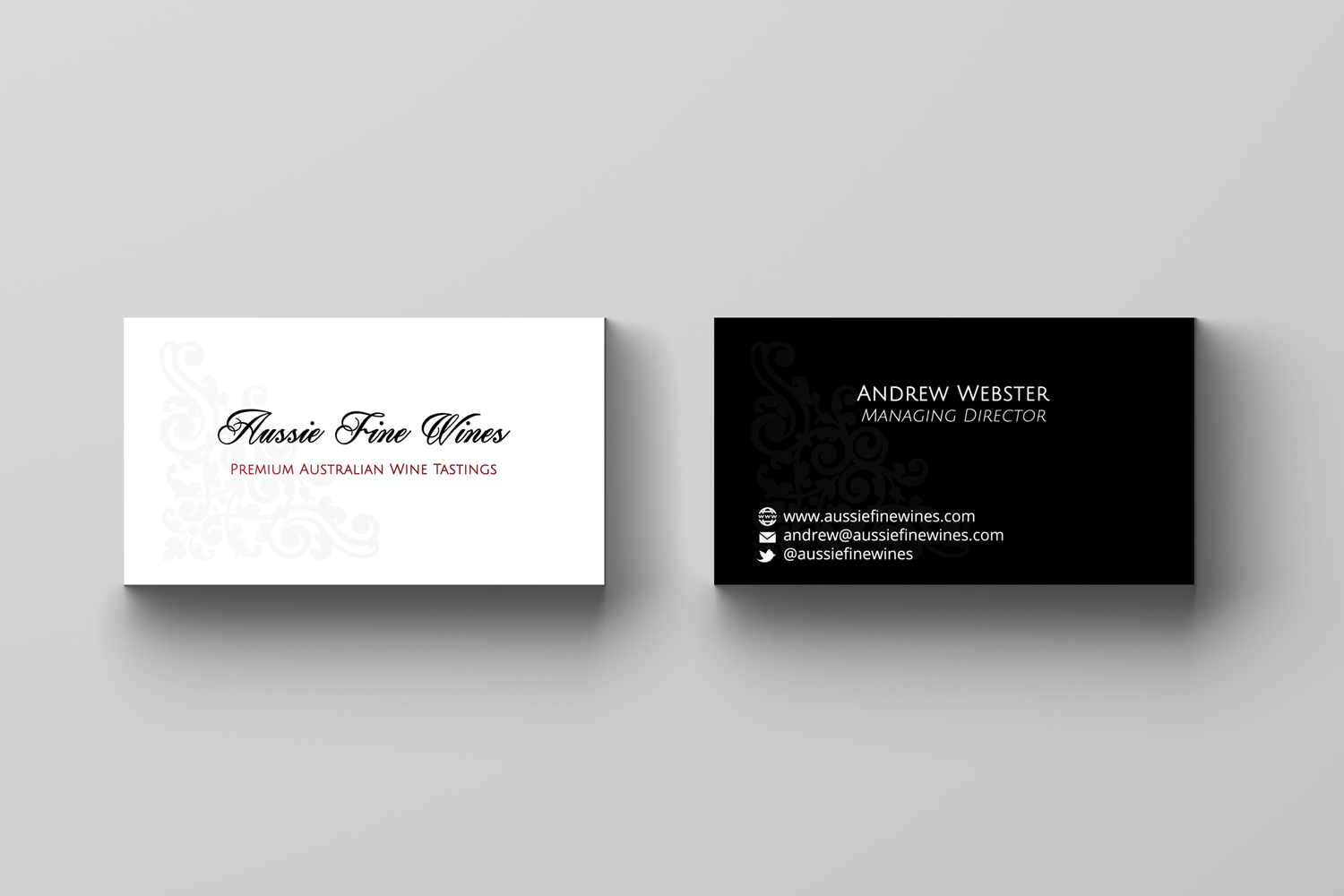 It company business card design for aussie fine wines by hd design business card design by hd design works for aussie fine wines design 10087027 colourmoves