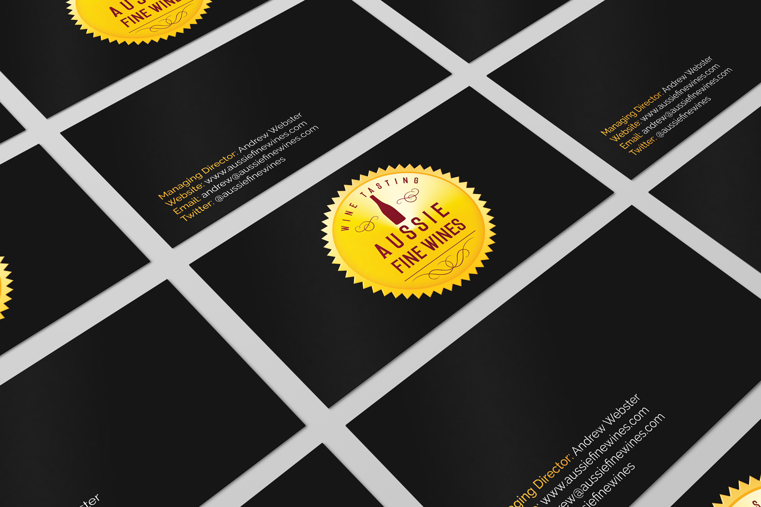 it company business card design for aussie fine wines by hd design