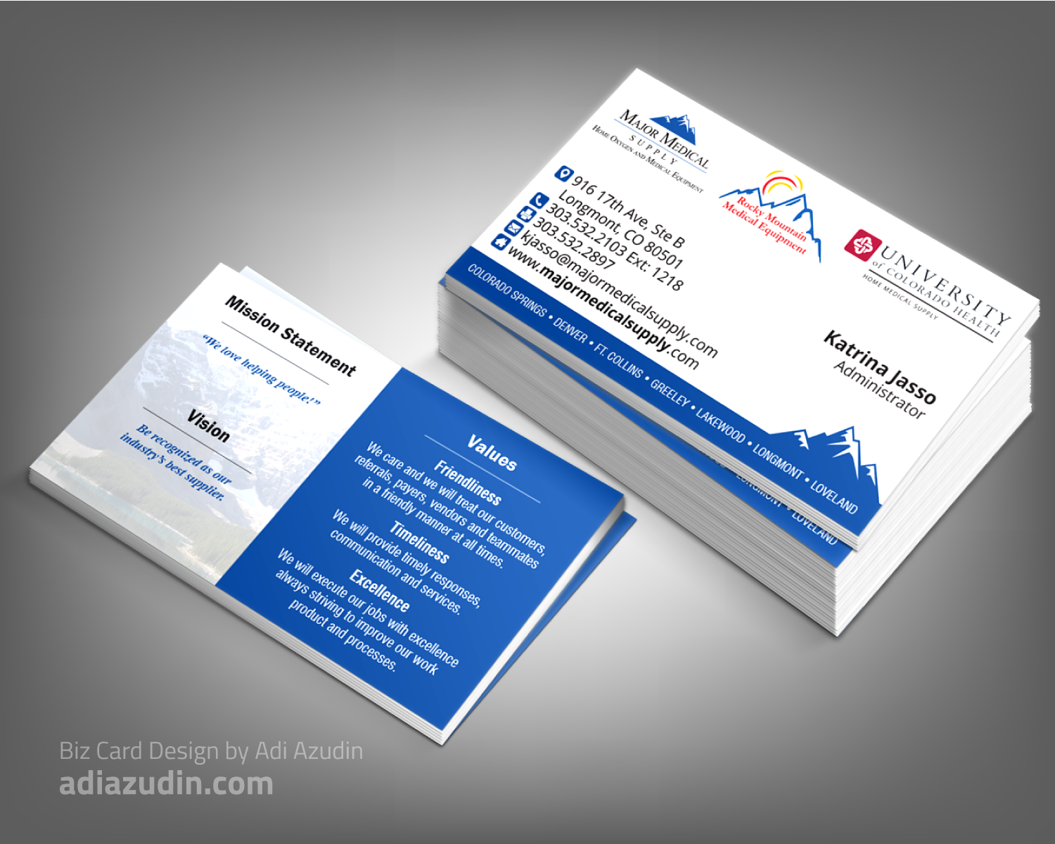 95 Serious Business Card Designs | Medical Equipment Business Card ...