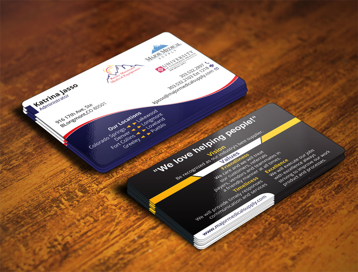 Serious, Conservative, Medical Equipment Business Card