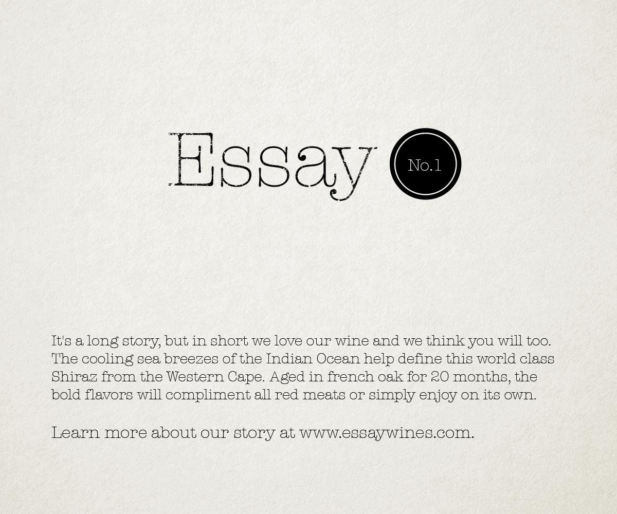 Conservative, Upmarket, Boutique Graphic Design for Essay